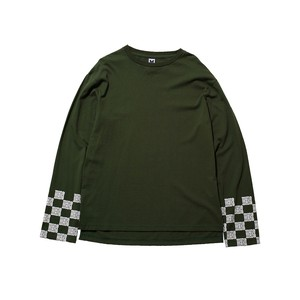 MYne CHECKER SLEEVE LTS / GREEN