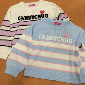 Candy chuu 209667マルチボーダーロゴニット