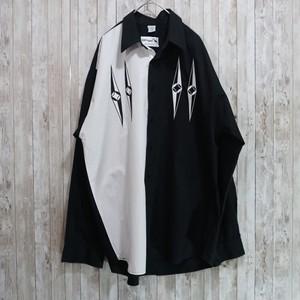 ユーロ ツートーン柄コットンシャツ [C237]
