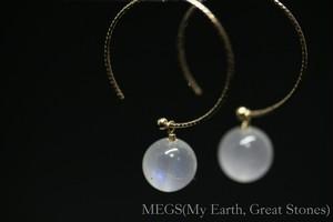 Seven Galaxies『月 Artemis 月曜日』ピアス 【K10 ロイヤルブルームーンストーン スリランカ産】