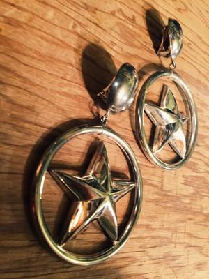 Vintage silver star earrings ( ヴィンテージ  シルバー スター イヤリング )