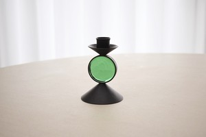 Ystad metall candle holder green(Gunnar Ander)