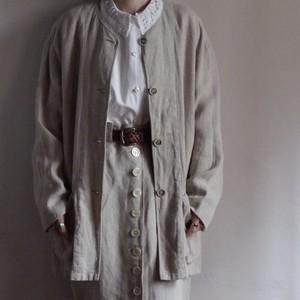 No collar Linen Jacket / リネン ジャケット