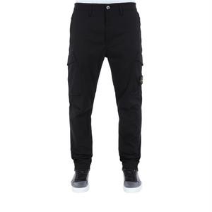 Stone Island Cotton Twill Cargo Pants Black 701531906