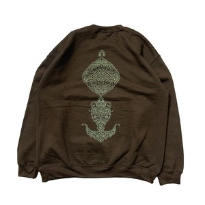 RAJABROOKE / ARABESQUE CREWNECK -BROWN-