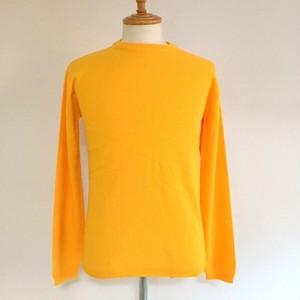BASOLAN WOOL Kanoko Crew Neck Knit Yellow