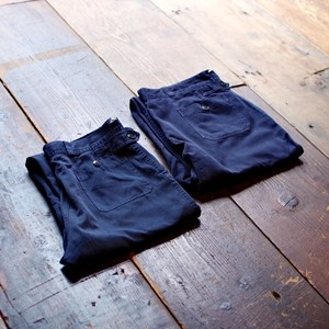 1990s FRENCH MILITARY Double Knee Work Pants / W32 フランス軍 ダブルニー ワークパンツ ネイビー