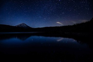 冬の星空(西湖)