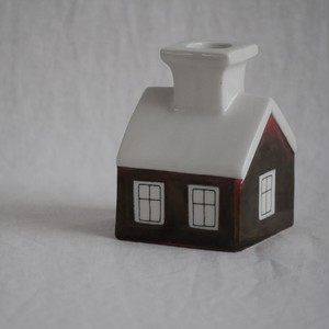 "Fantastic Talo ""house"" taper candle holder by Arabia Finland"