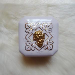 チェコ Royal Dux Bohemia社 ピンクポーセリン ぶどうの小物入れ