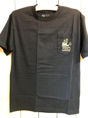 DOOM SAYERS (ドゥームセイヤーズ,ポケットTシャツ)  Doom wood poket tee BLACK