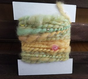 手紡ぎ糸 カードヤーン 5
