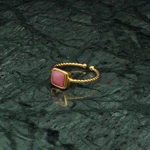 SINGLE MINI STONE RING GOLD 004