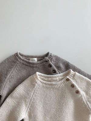 【予約販売】cotton knit crew-neck〈monbebe〉