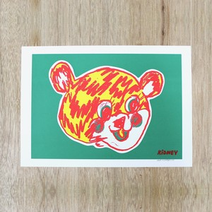 Rob Kidney/Titty Bear screen print (GREEN)