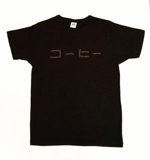 【柔らかい着心地】コーヒーTシャツ ブラック (Q.O.L.オリジナルTシャツ)