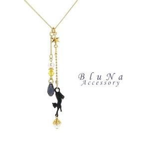 黒猫の星見ネックレス