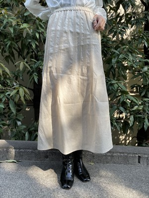 (TOYO) design long flare skirt
