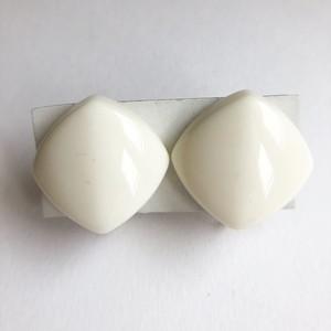 white design earring[e-1184]