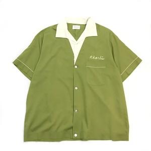 【VINTAGE】70's NAT NAST チェーン刺繍入り ボーリングシャツ