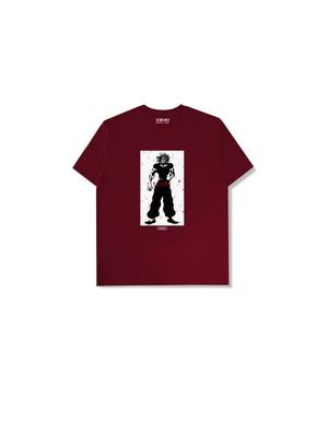"XENO x BAKI Collaboration T-shirt ""YUJIRO"" DarkRed"