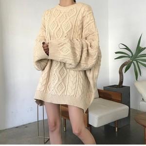 オーバーサイズニットセーター 9911