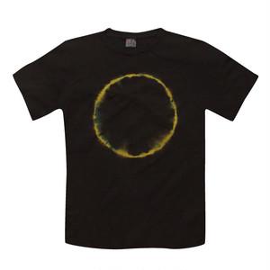 カジュアル藍泥染Tシャツ|皆既日食 イエロー/ad006