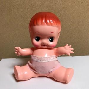 デコちゃん人形 ソフビ 人形 昭和レトロ 首手足稼働 キューピー
