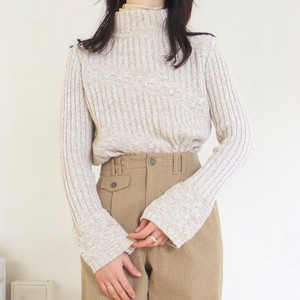 cotton-blend ribbed top