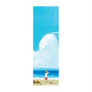 お守り栞(しおり) - 白と青の未来図 -