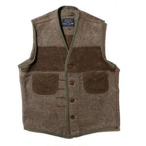 JOHN GLUCKOW 5th Anniversary Fishermans Friend Blanket Vest(フィッシャーマンズ フレンド ブランケットベスト) Special Vintage FabricW XLサイズ [JG43563]