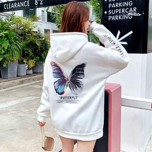 【トップス】蝶図柄ストリート系キュート長袖ファッションパーカー35164556
