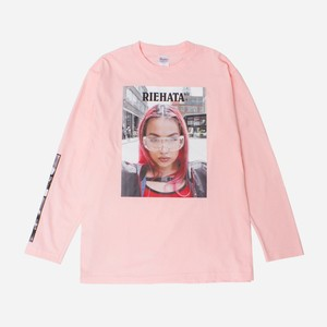 RIEHATA RED LONG SLEEVE TEE [PINK]