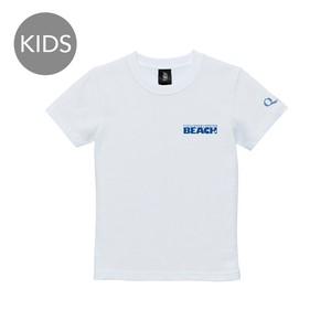 beach logo 半袖 白 KIDS
