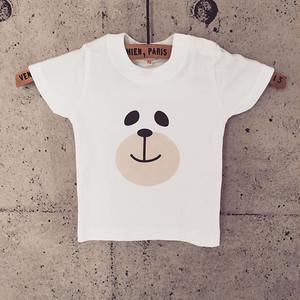 baby + kids t-shirt 【くまfaceC】