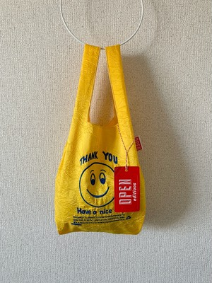 【OPEN EDITIONS / 送料無料】THANK YOU MINI エコバッグ/ SMILE Yellow