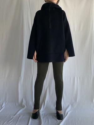 Super100wool Anorak hooded coat / Navy