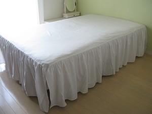 drawers ベッドスカート S シングル オフホワイト