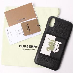 バーバリー Burberry  iPhoneX/Xs 用ケース ブラック[全国送料無料] r017299