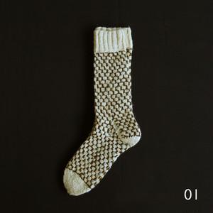Montemuro 靴下 - 柄ありA