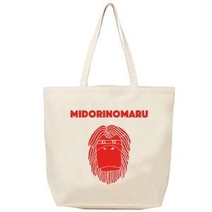 Dancing MIDORIMAN Tote-bag (NATURAL)