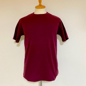 High Tension Circular Rib Crew Neck TEE Burgundy