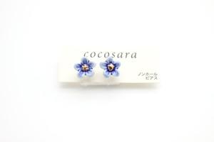 有田焼ノンホールピアス flower 10
