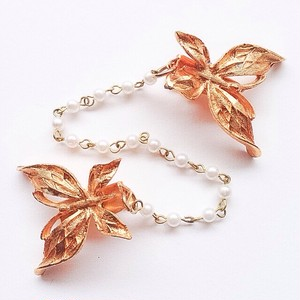 gold butterfly sweater clip[s-]