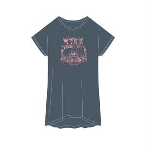 バニちゃん&にーにくんTシャツ<チャコール>フリーサイズ