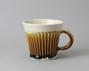マグカップ -しのぎ模様・茶| 環窯