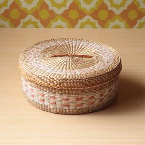 【未使用】昭和レトロ い草 かご 籠 小物入れ