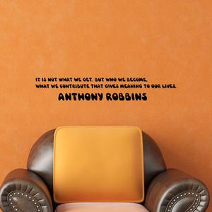 ロビンズのウォールステッカー 人生に意味を与えるものとは、私たちが得るものではなく