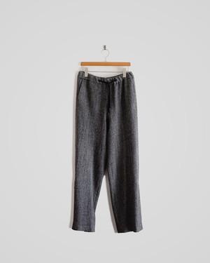 wool herringbone track pants