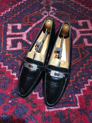 .Ralph Lauren LEATHER LOGO LOAFER MADE IN ITALY/ラルフローレンレザーロゴローファー 2000000019369